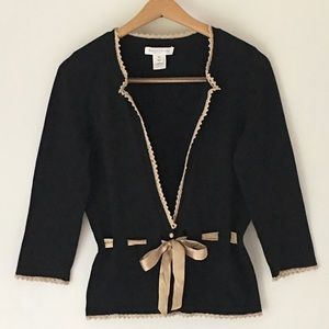 White House Black Market Cardigan Lace Ribbon